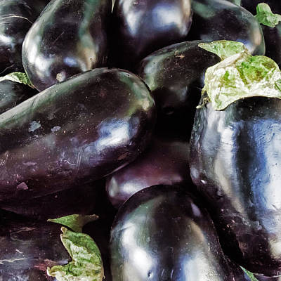 Photograph - Eggplant by Lewis Mann
