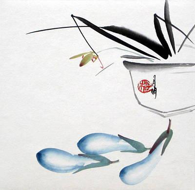Eggplant Art Print by Ming Yeung