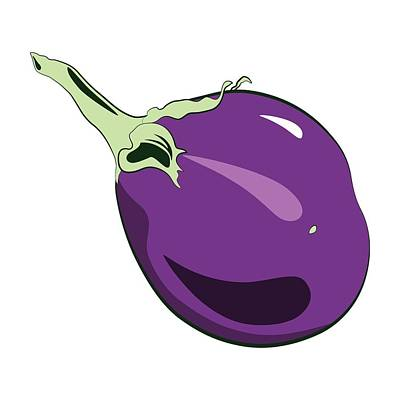 Digital Art - Eggplant by MM Anderson