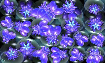 Purple Grapes Digital Art - Eggplant by Ron Bissett