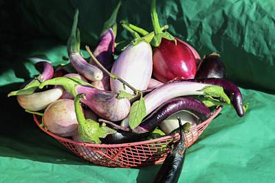 Photograph - Eggplant Still Life by Bonnie Follett