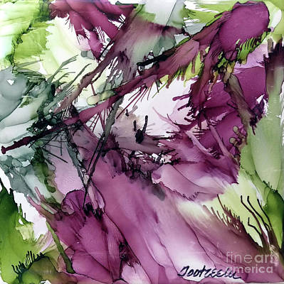 Splashy Painting - Eggplant by Jo Ann Bossems