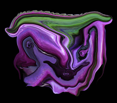 Digital Art - Eggplant Visage by Robert Woodward