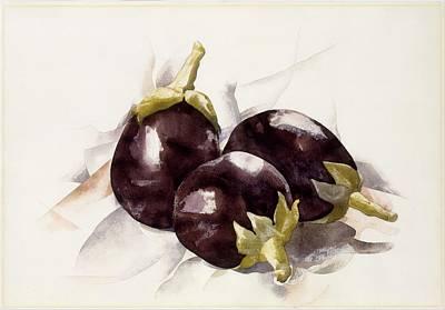 Eggplants. ,charles Demuth Art Print