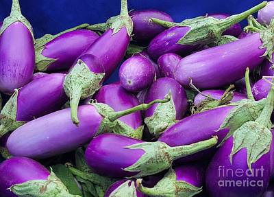 Photograph - Eggplants On  Stage By Jasna Gopic by Jasna Gopic