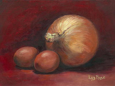 Eggs And Onions Art Print by Liz Rose