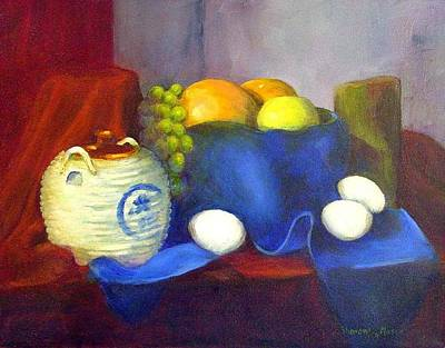 Eggs And Oranges Original by SharonJoy Mason