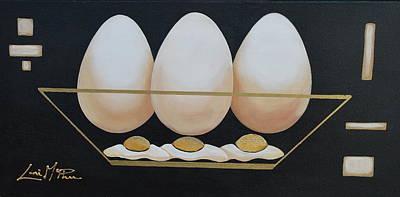 A Sunny Morning Painting - Eggs Anyone by Lori McPhee