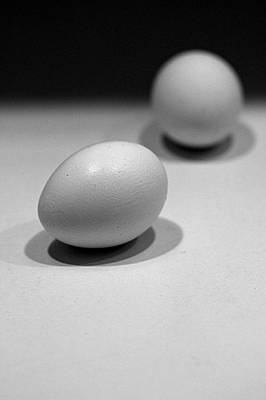Photograph - Eggs - Black And White by Joseph Skompski
