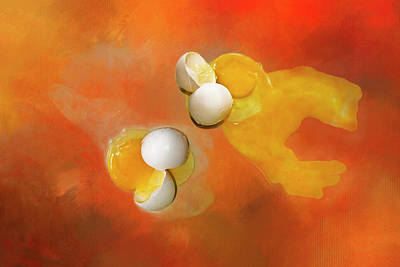 Eggs Art Print by Carolyn Marshall