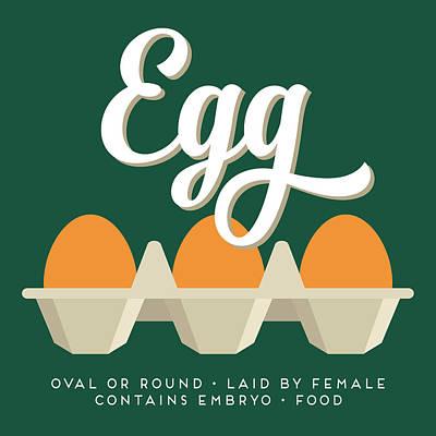 Chicken Digital Art - Eggs Defined by Flo Karp