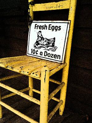 Eggs For Sale Art Print by Lori Mellen-Pagliaro