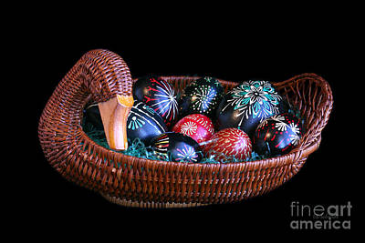 Photograph - Eggs In A Goose Basket by E B Schmidt