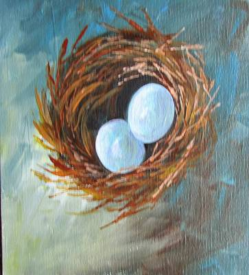 Painting - Eggs In A Nest by Gloria Turner