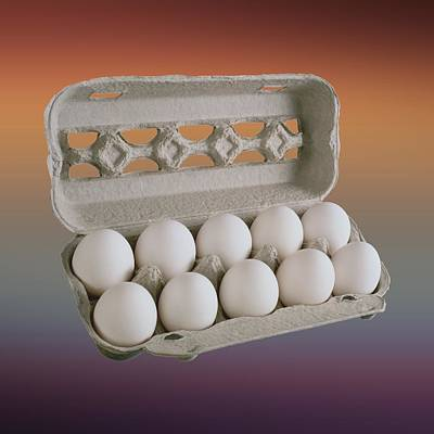 Food Stores Digital Art - Eggs In Carton by Movie Poster Prints