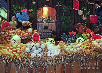 Photograph - Eggs In Market by Haleh Mahbod