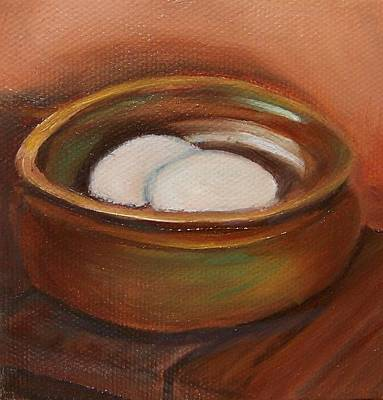Painting - Eggs In Terracotta by Susan Dehlinger