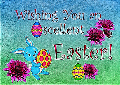 Photograph - Eggscellent Easter by Judy Vincent