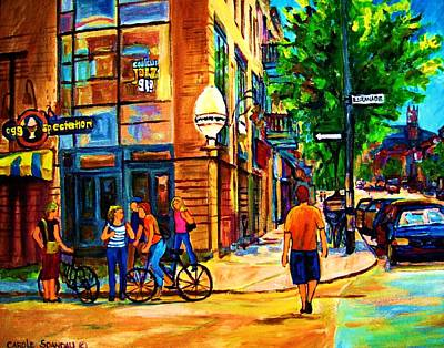 Eggspectation Cafe On Esplanade Art Print by Carole Spandau