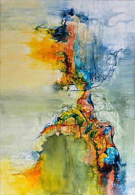 Abstract Painting - Egide by Francoise Dugourd-Caput