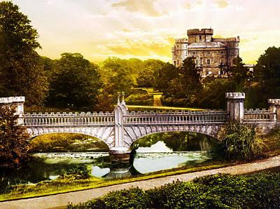 Photograph - Eglington Castle - Remastered by Carlos Diaz