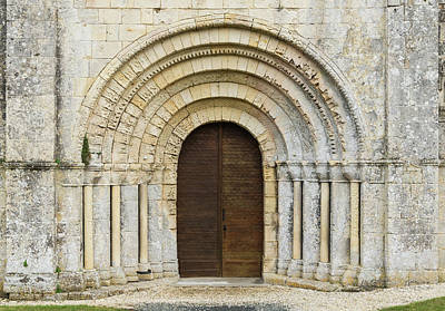 Photograph - Eglise Marignac Romanesque Portal Charente-maritime by Jebulon