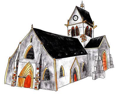 Painting - Eglise Notre Dame De Assomption  by Anna Elkins