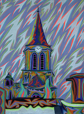 Painting - Eglise Onze - Onze by Robert SORENSEN