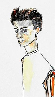 Painting - Egon Schiele by Hae Kim