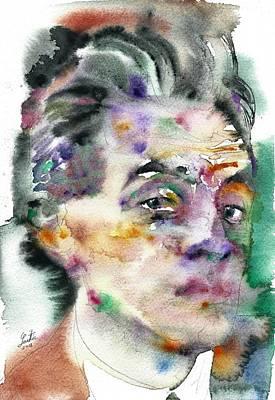 Painting - Egon Schiele - Watercolor Portrait.3 by Fabrizio Cassetta