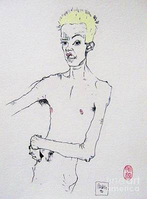 Egon With Conch Original by Roberto Prusso