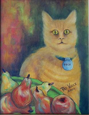 Painting - Egor Guarding The Pears by Patricia Voelz