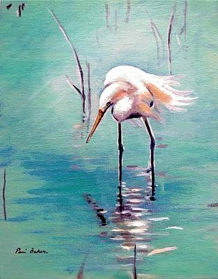 Painting - Egret 2 by Peni Baker