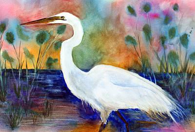 Egret 2 Art Print by Tina Storey