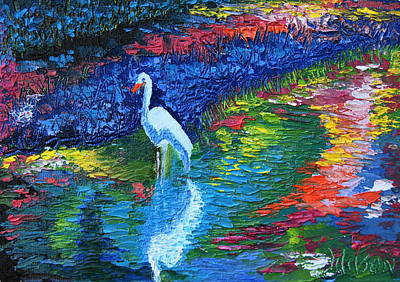 Painting - Egret Beauty by Chrys Wilson