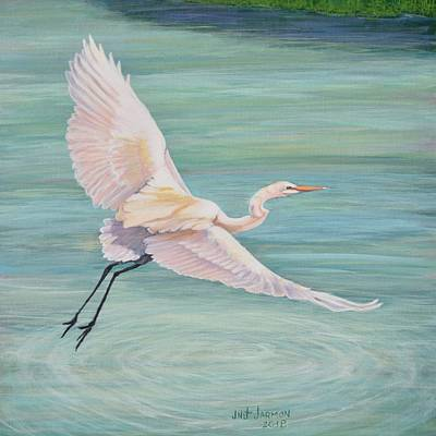 Painting - Egret by Jeanette Jarmon