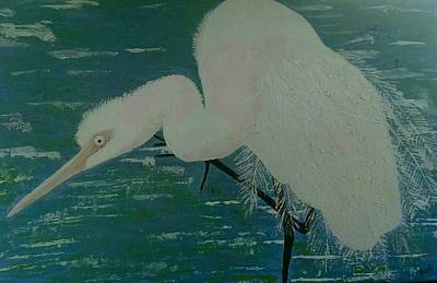 Painting - Egret by Judi Goodwin