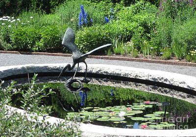 Photograph - Egret Sculpture by Kathie Chicoine