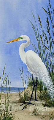 Painting - Egrets Shore by James Williamson