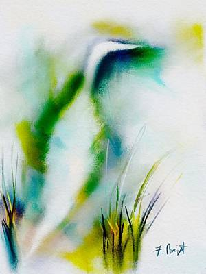 Egret's Home Abstract Original