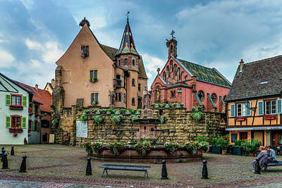 Photograph - Eguisheim St Leon Square Alsace France_dsc7343_16 by Greg Kluempers