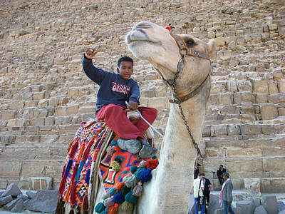 Photograph - Egypt - Boy With A Camel by Munir Alawi