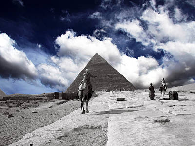 Egypt - Clouds Over Pyramid Art Print by Munir Alawi