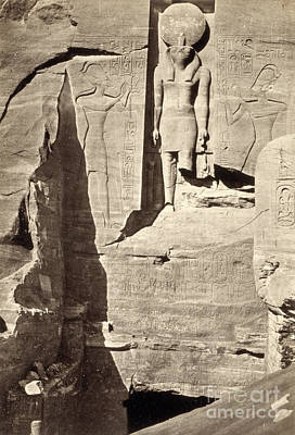 Photograph - Egypt, Abu Simbel, 1857.  by Granger