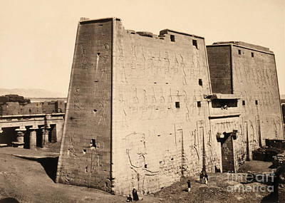 Photograph - Egypt, Edfu, C1860.  by Granger