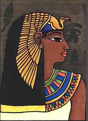 Tapestry - Textile - Egypt Lady by Elaine Jackson