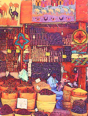 Photograph - Egypt Market by Lisa Dunn