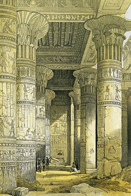 Photograph - Egypt Pillars by Munir Alawi