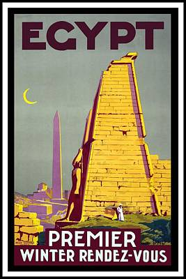 Royalty-Free and Rights-Managed Images - Egypt - Premier Winter Rendez-vous - Retro travel Poster - Vintage Poster by Studio Grafiikka