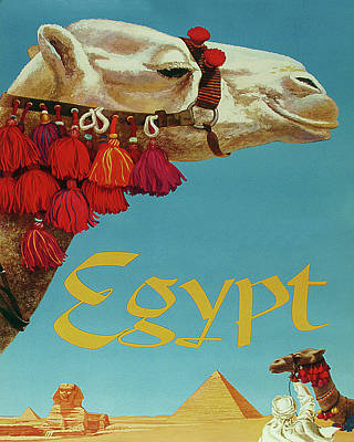 Cairo Mixed Media - Egypt Travel Poster by Long Shot